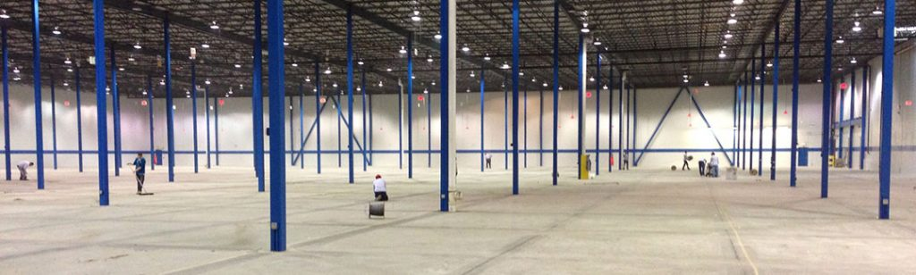 Stried Painting - industrial painting an aircraft hanger