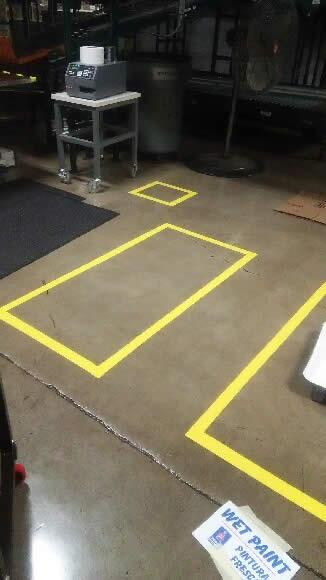 Floor Stripe Boxes
