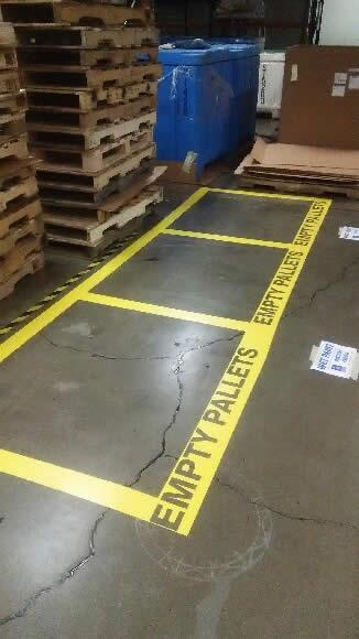 Floor Stripe- Empty Pallets
