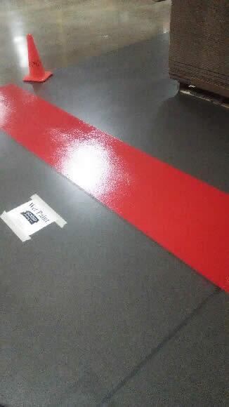 Floor Stripe Red